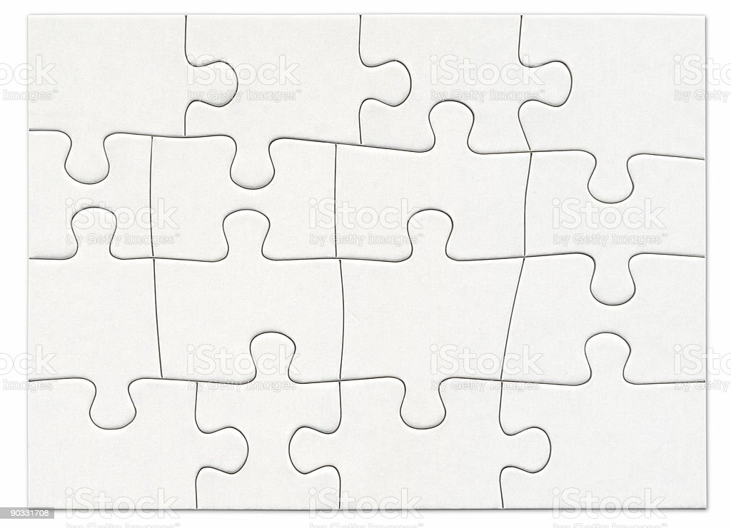 An empty puzzle with never ending possibilities stock photo