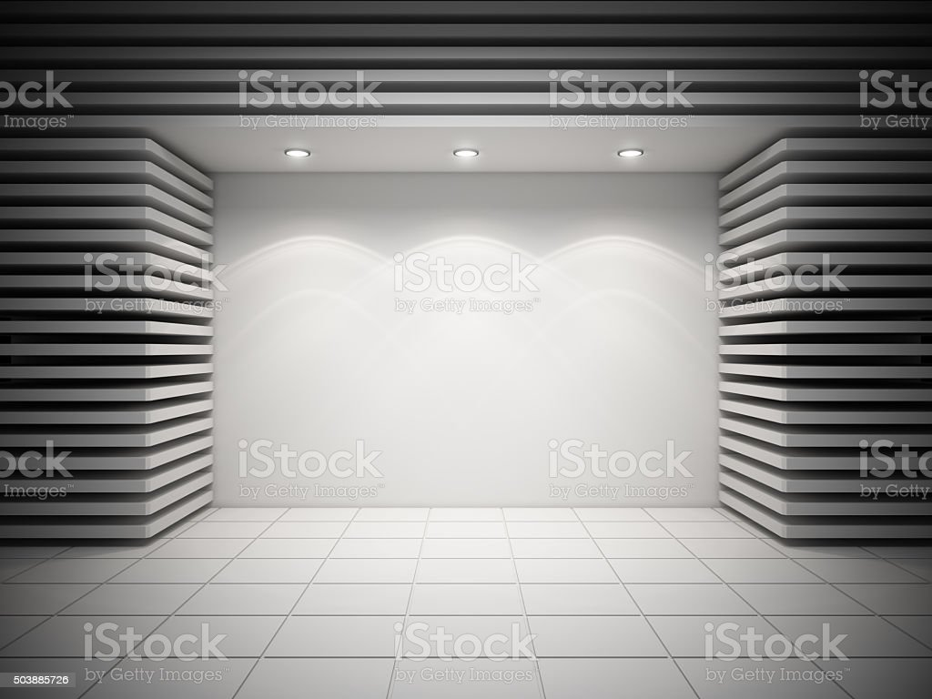 An empty storefront stock photo
