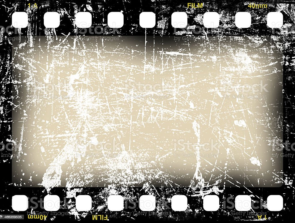 An empty vintage film frame of filmstreifen stock photo