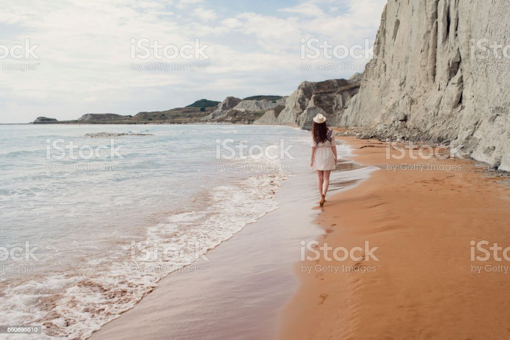 An Endless Beach For Walking stock photo