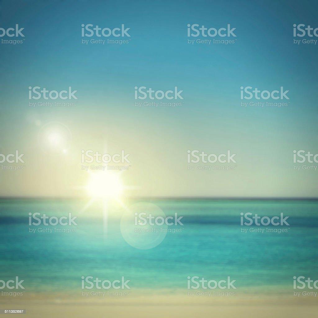 An endless blue horizon stock photo