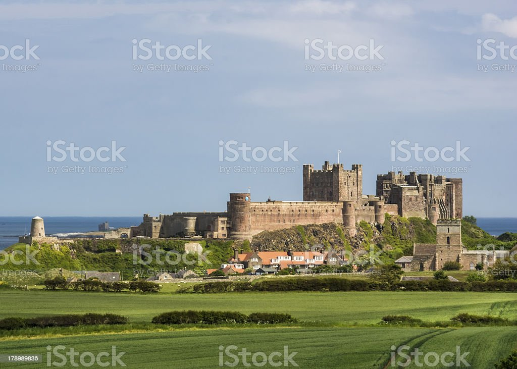 An English Castle Bamburgh Northumberland royalty-free stock photo