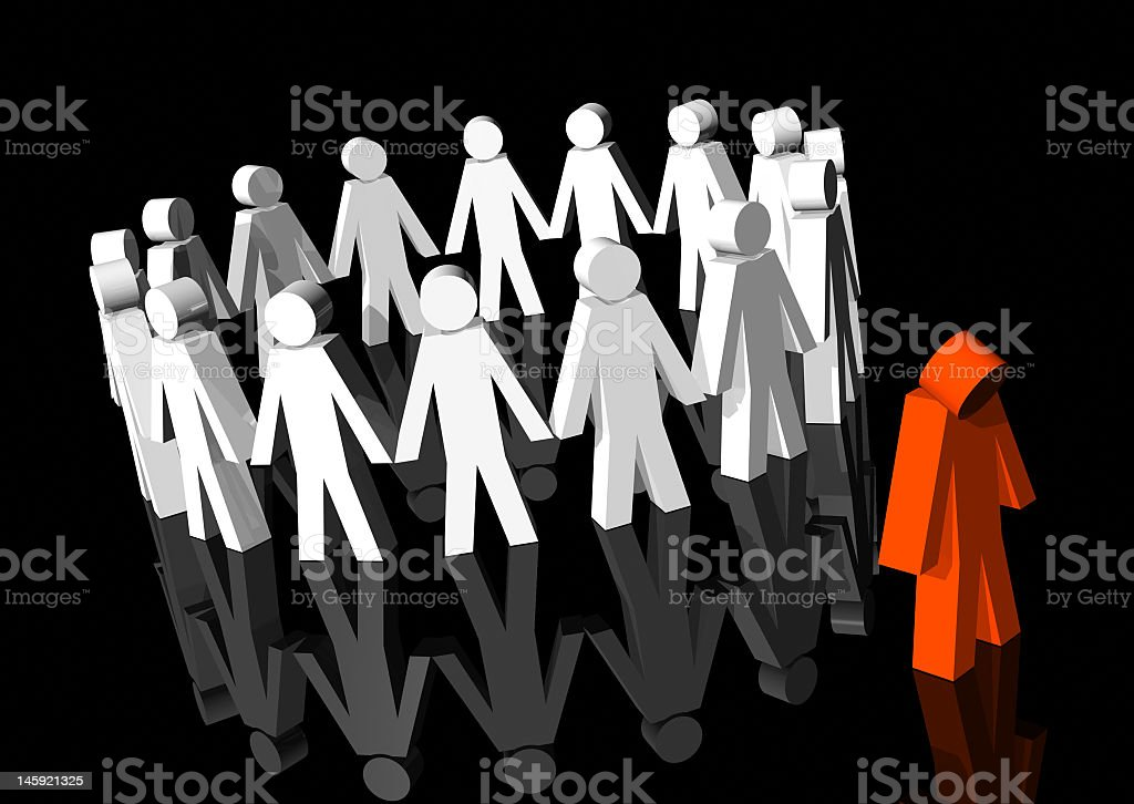 An example of a model being excluded royalty-free stock photo