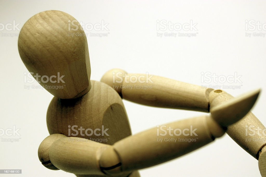 an expression : 'karate' mannequin - manikin royalty-free stock photo