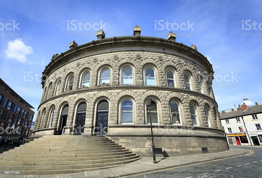 An exterior view of the Leeds Corn Exchange royalty-free stock photo
