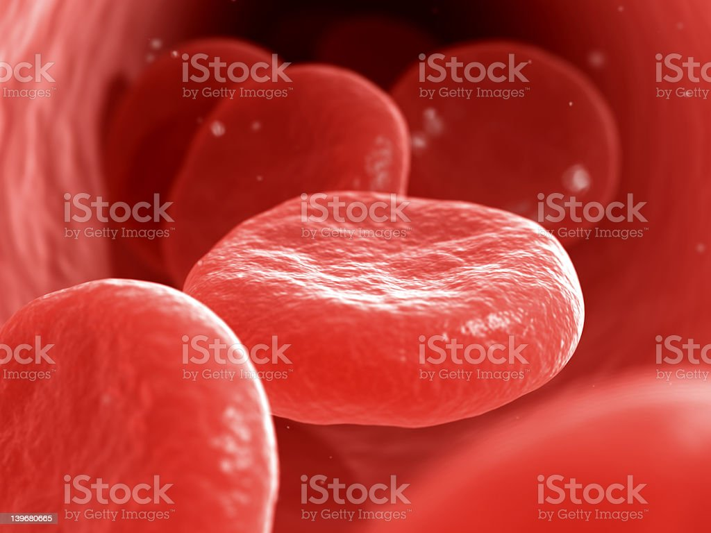 An extreme closeup of blood cells royalty-free stock photo