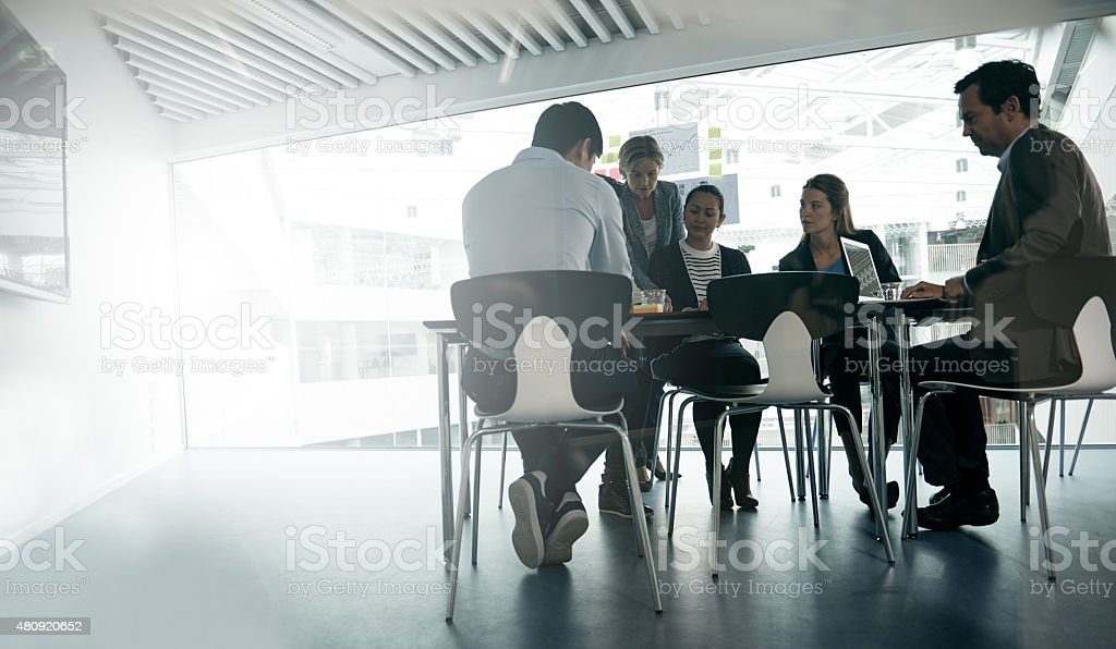 An extremely productive meeting stock photo