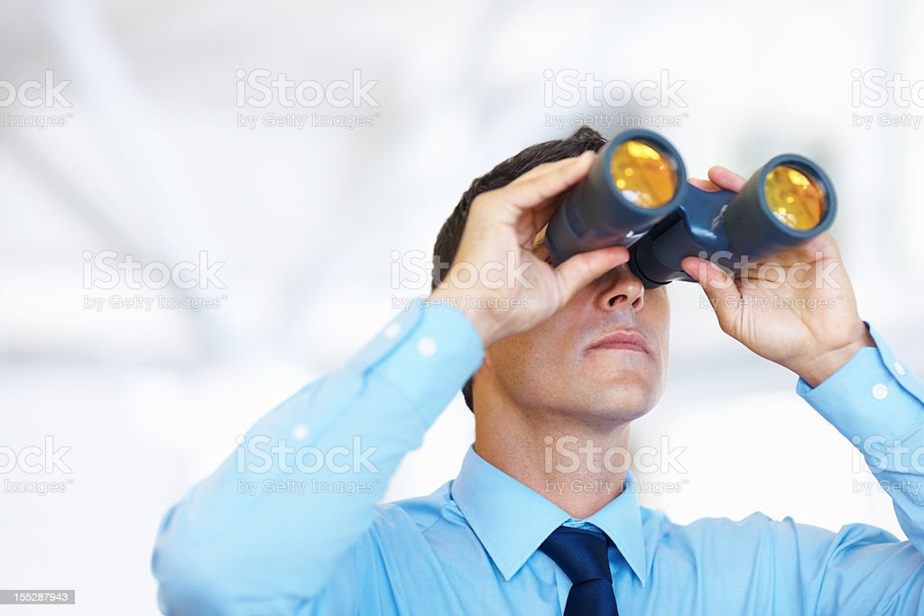 An eye on the competitors stock photo