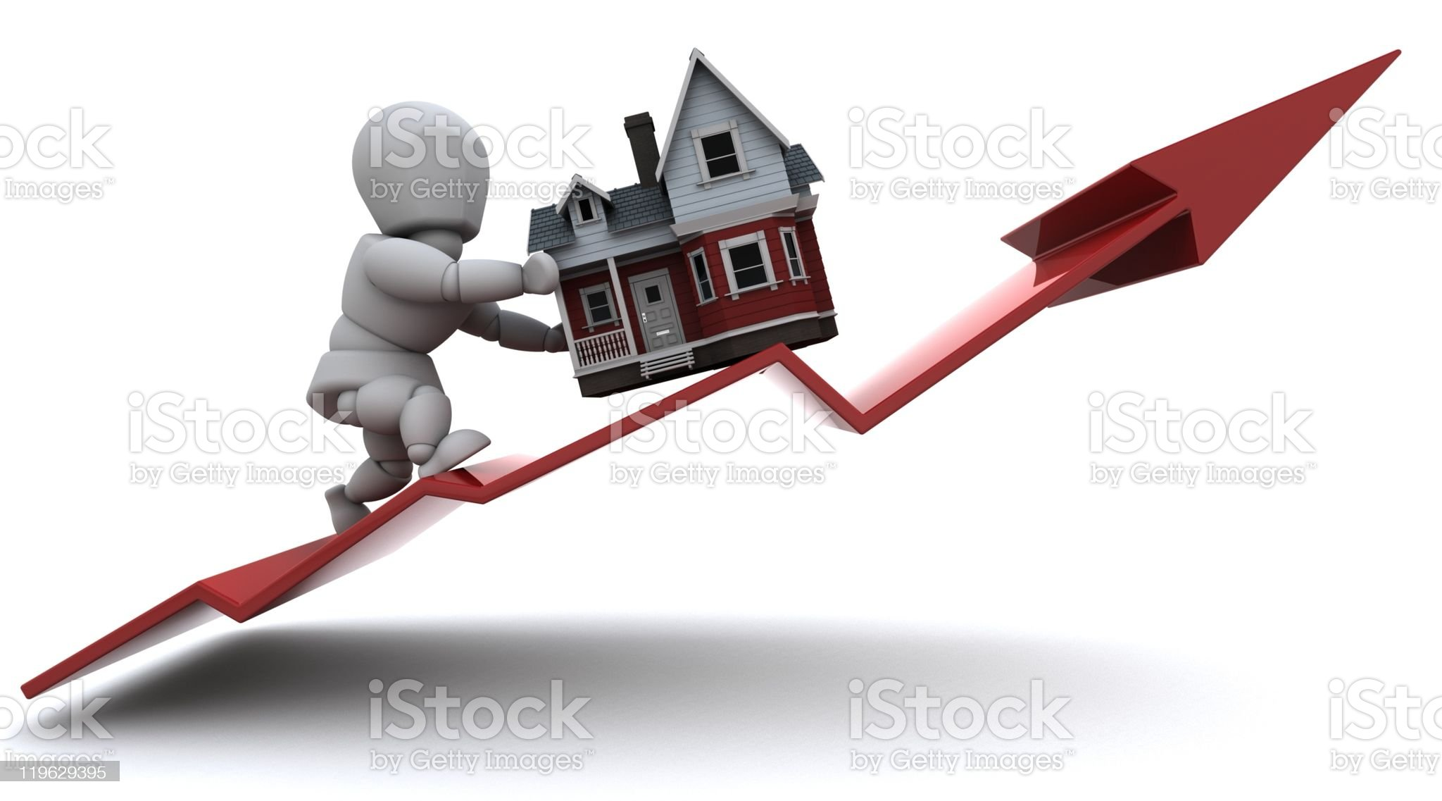 An illustration for rising property prices royalty-free stock photo