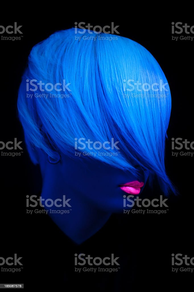 An illustration of a ultra violet beautiful portrait stock photo