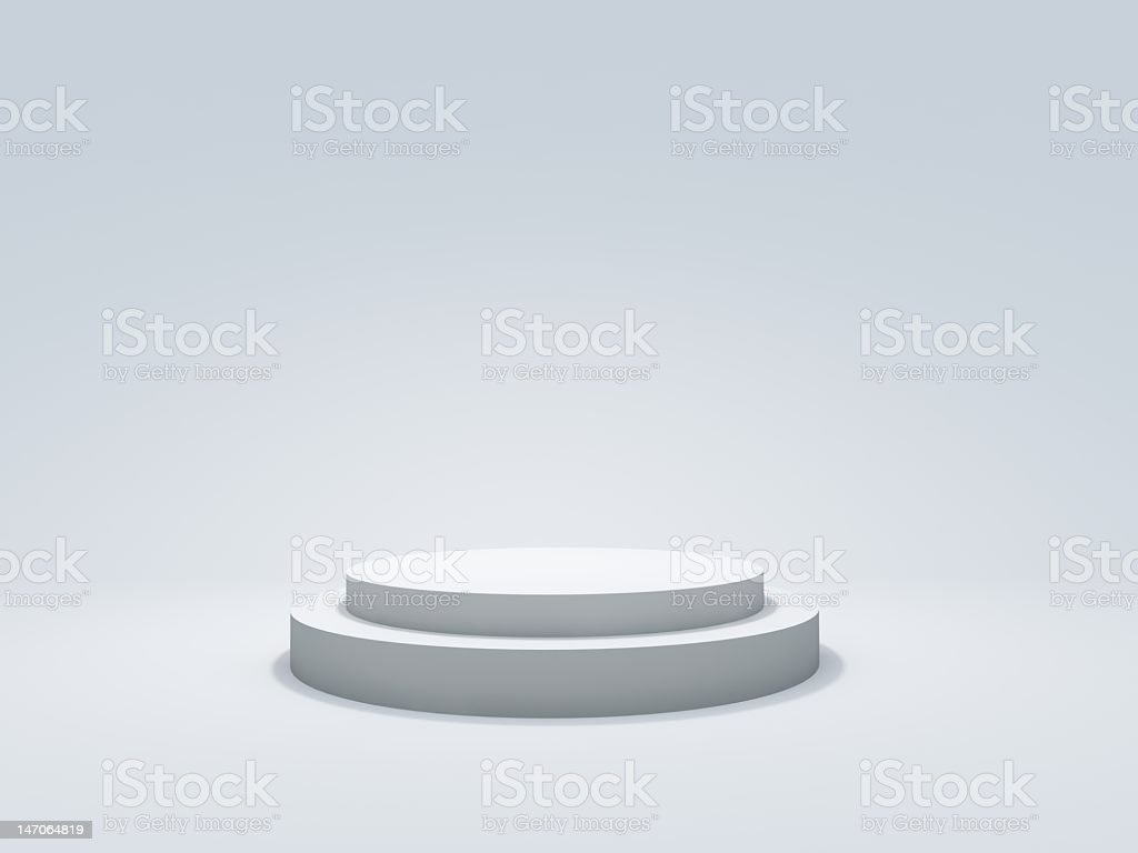 An illustration of a white podium stock photo
