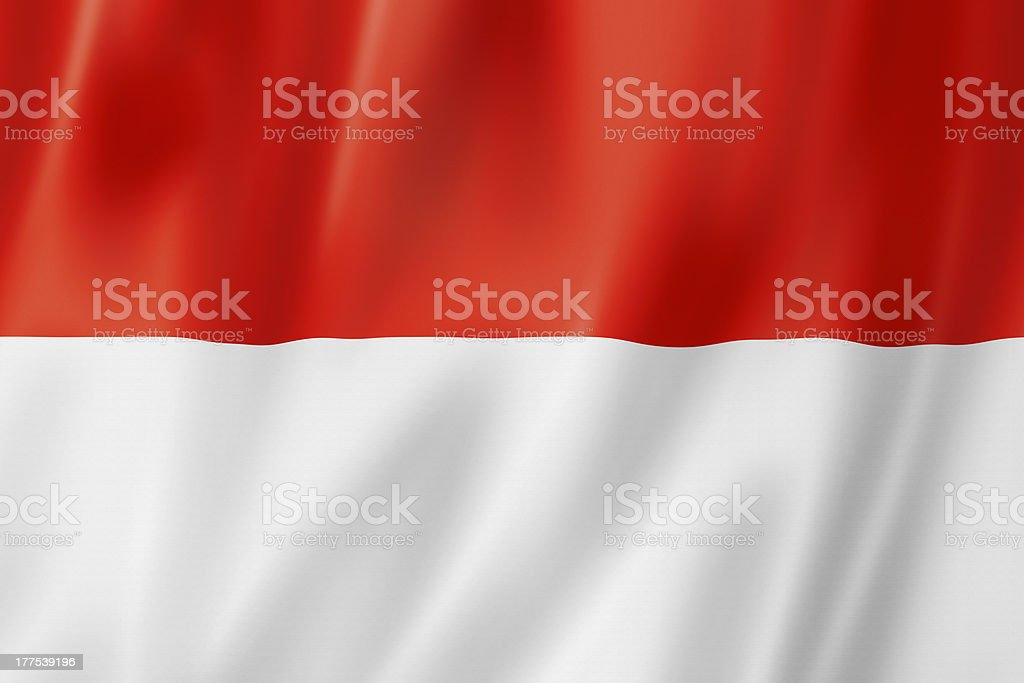 An illustration of the Indonesian flag stock photo