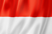 An illustration of the Indonesian flag