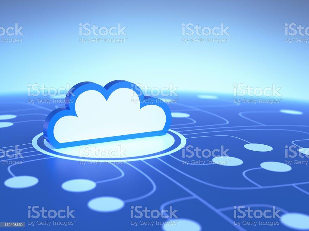 An illustration representing cloud computing royalty-free stock photo
