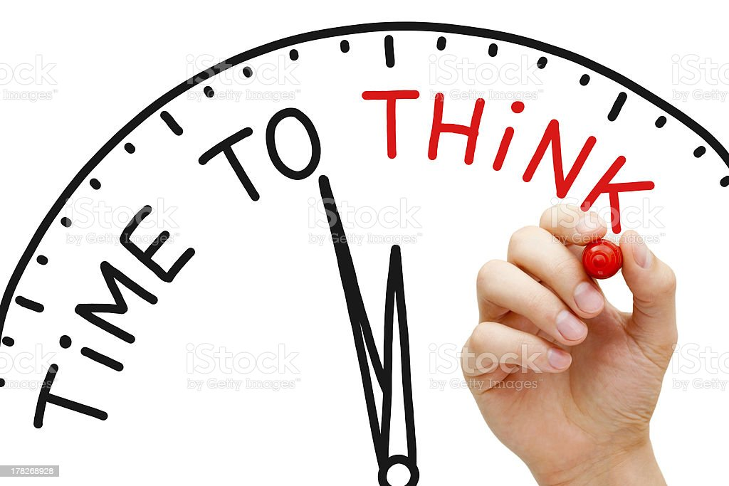 An illustration to convey time to think stock photo