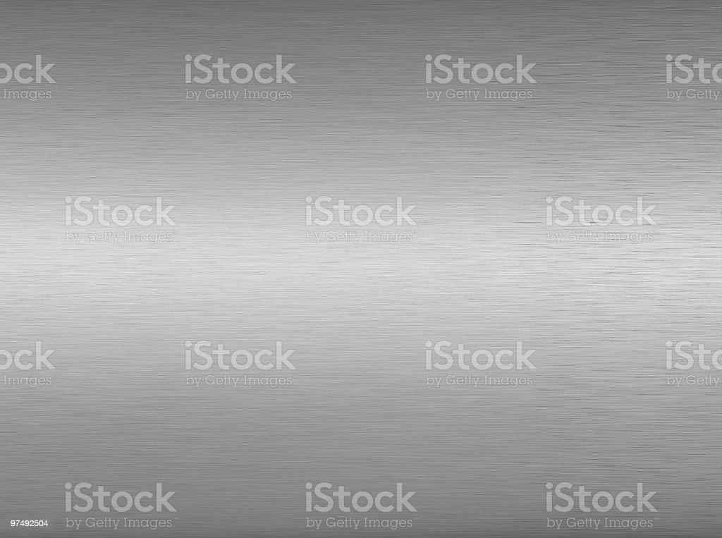 An image of a brushed aluminum background stock photo