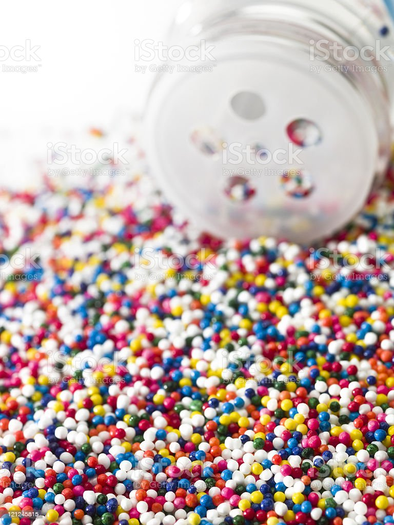 An image of a colorful sprinkles stock photo