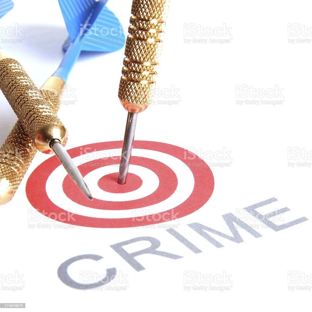 An image of a Target Crime background royalty-free stock photo