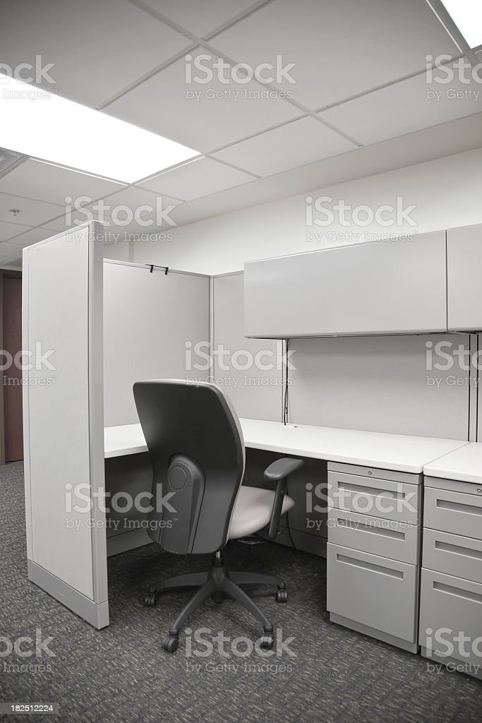 An image of a white empty cubicle royalty-free stock photo