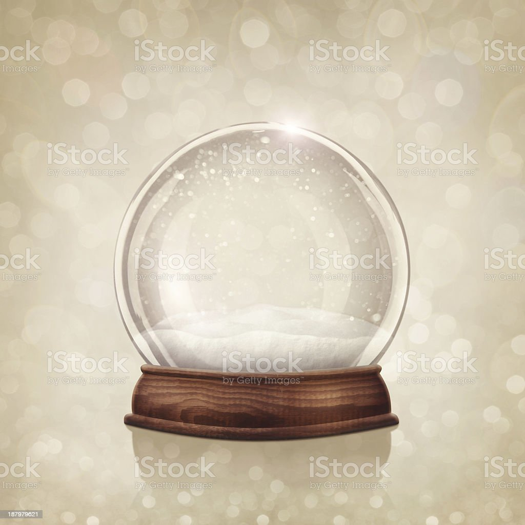 An image of an empty snow globe stock photo