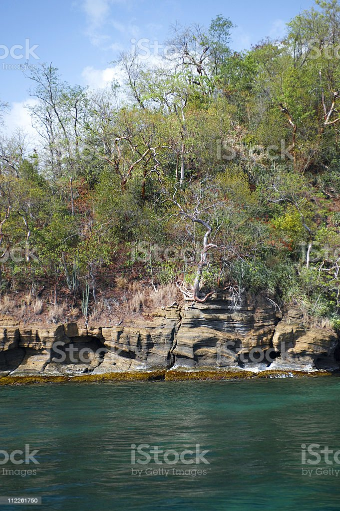 An image of an ocean cliffs against a cloudy sky royalty-free stock photo