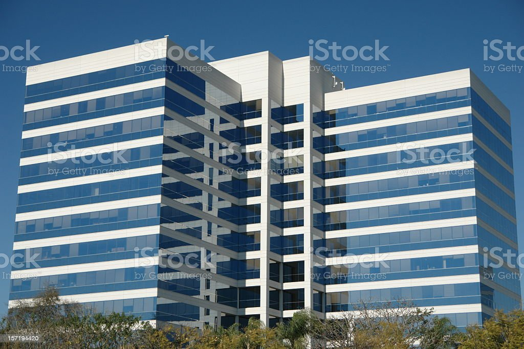 An image of an office building with mirrored windows royalty-free stock photo