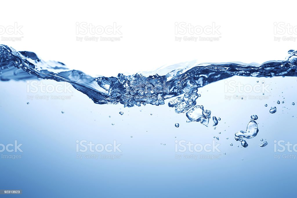 An image of bubbling blue water surface royalty-free stock photo