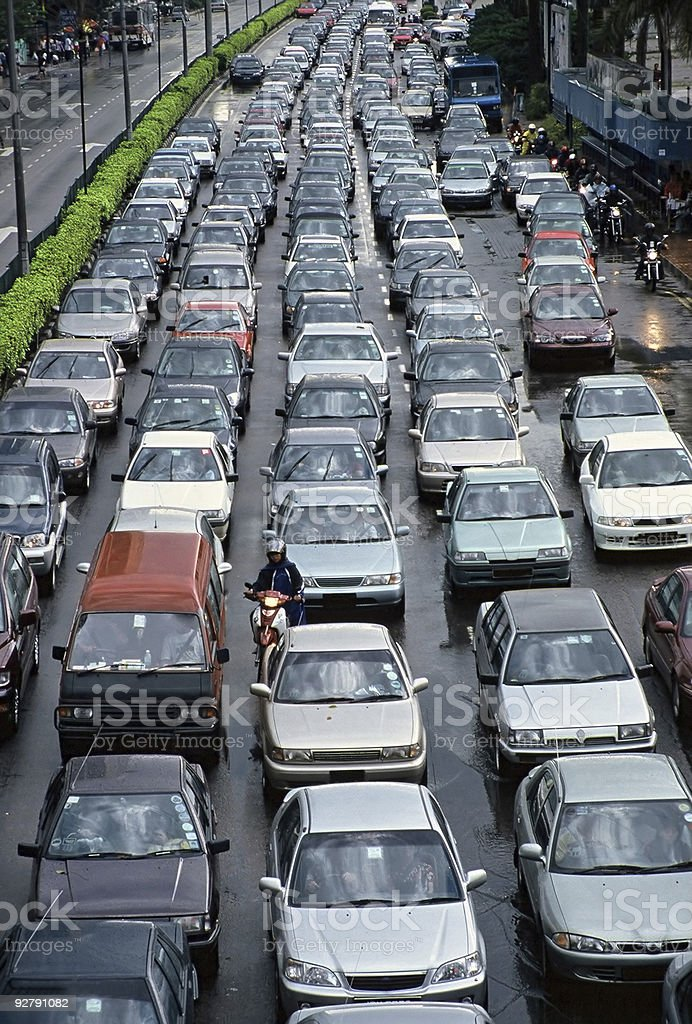 An image of chock a block traffic jam royalty-free stock photo
