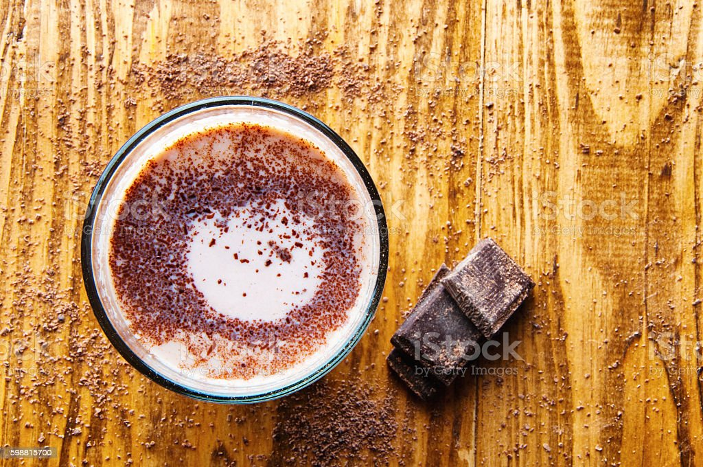 An image of hot chocolate with text sapce. stock photo