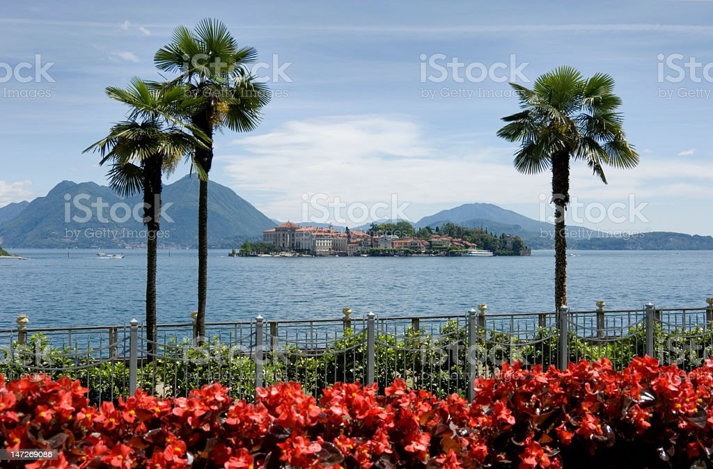 An image of Isola Bella on Lake Maggiore in Italy stock photo