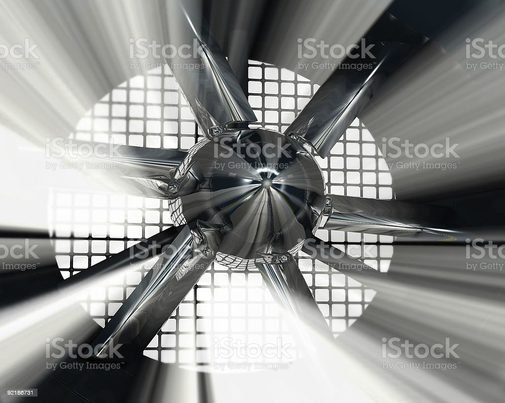 An image of light shining through an automotive wind tunnel stock photo