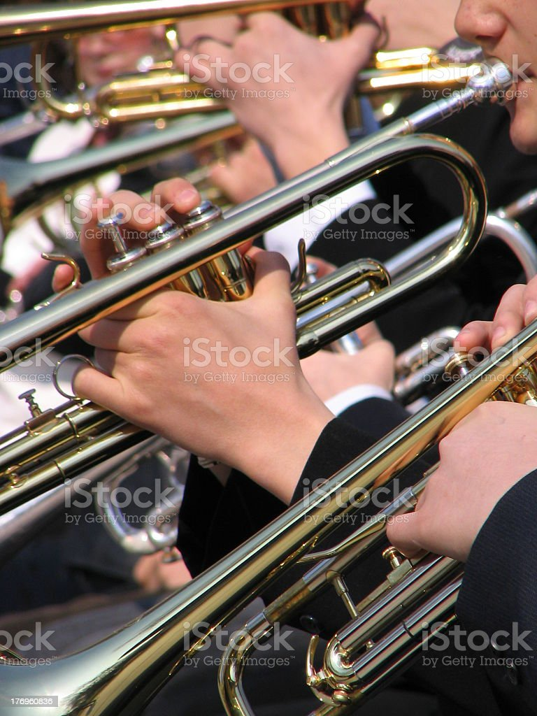 An image of musicians at a concert stock photo
