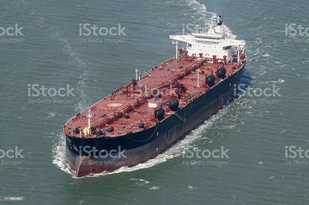 An image of Oil tanker on the ocean royalty-free stock photo