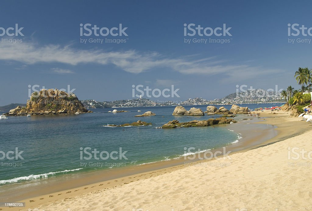 An image of the Acapulco coastline stock photo
