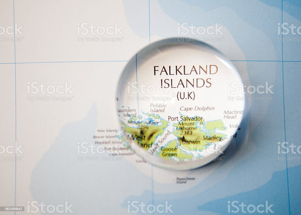 An image showing a focus on the falkland islands stock photo