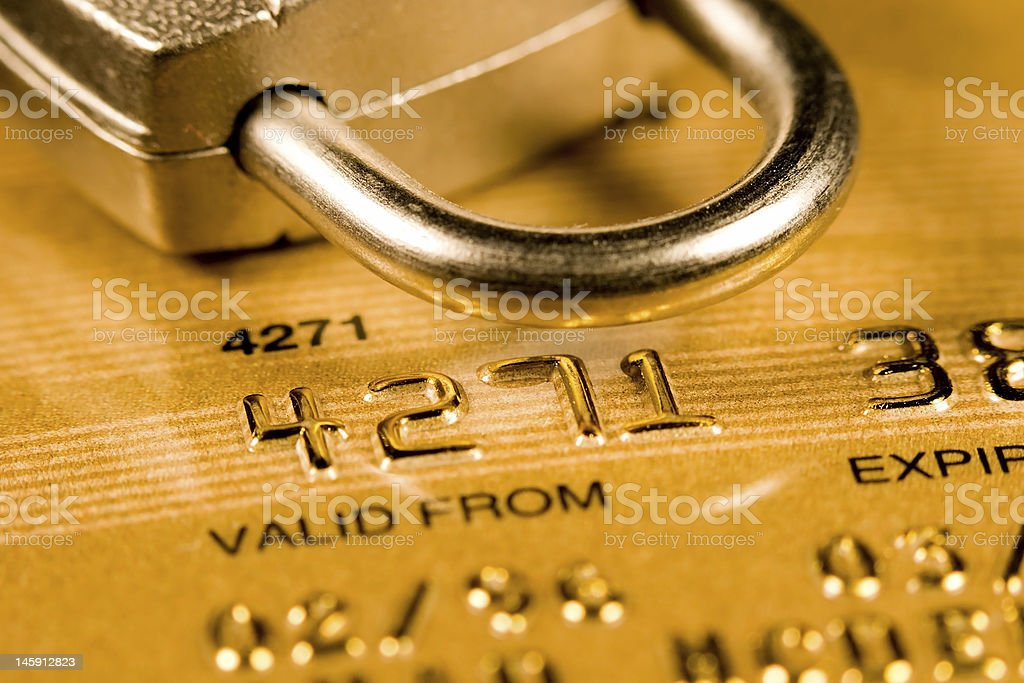 An image symbolizing credit card security stock photo