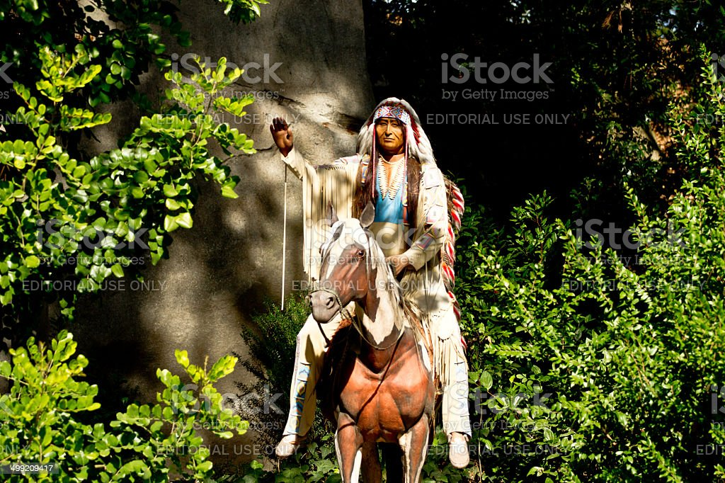 An indian and a horse in Disneyland ca stock photo