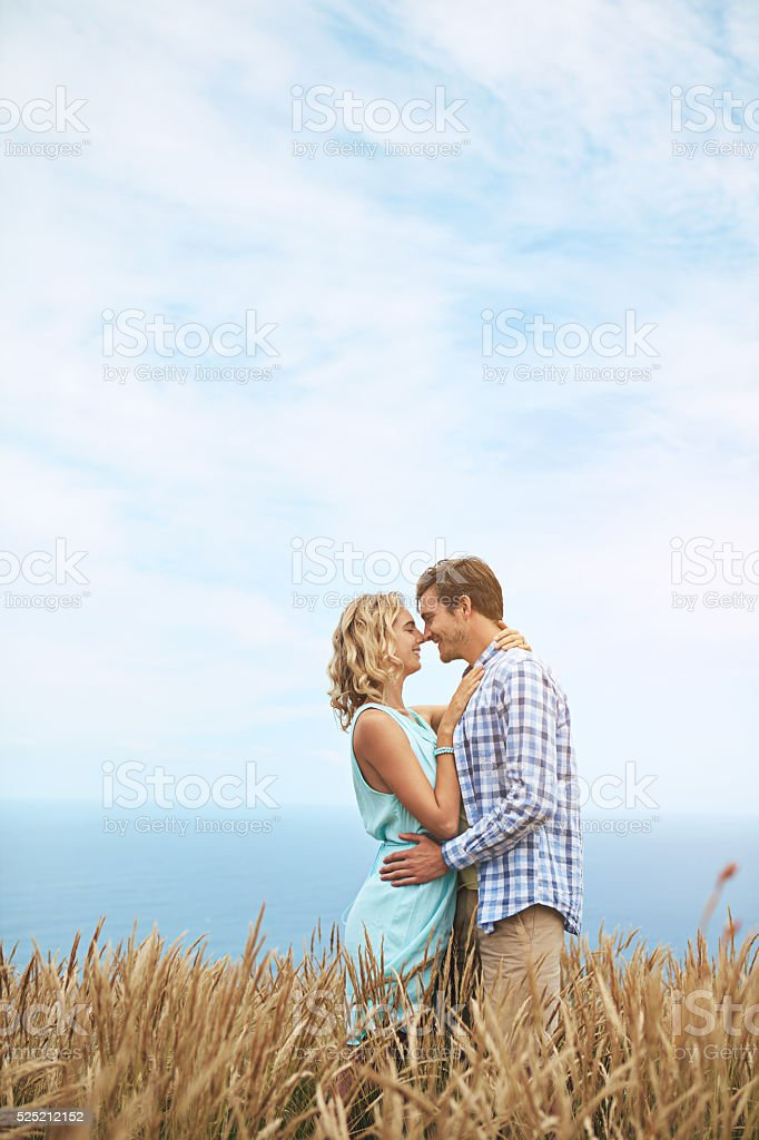 An intimate moment stock photo