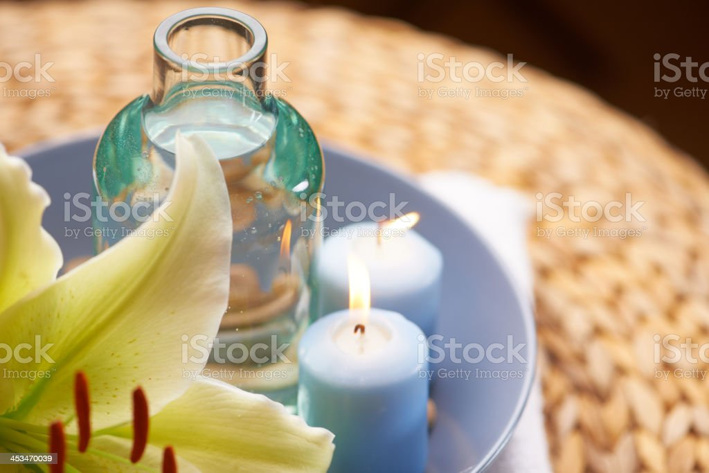 An invitation to pamper yourself stock photo