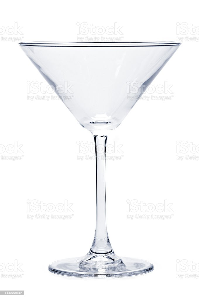 An isolated empty martini glass royalty-free stock photo