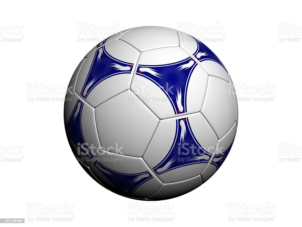 An isolated soccer ball on white stock photo
