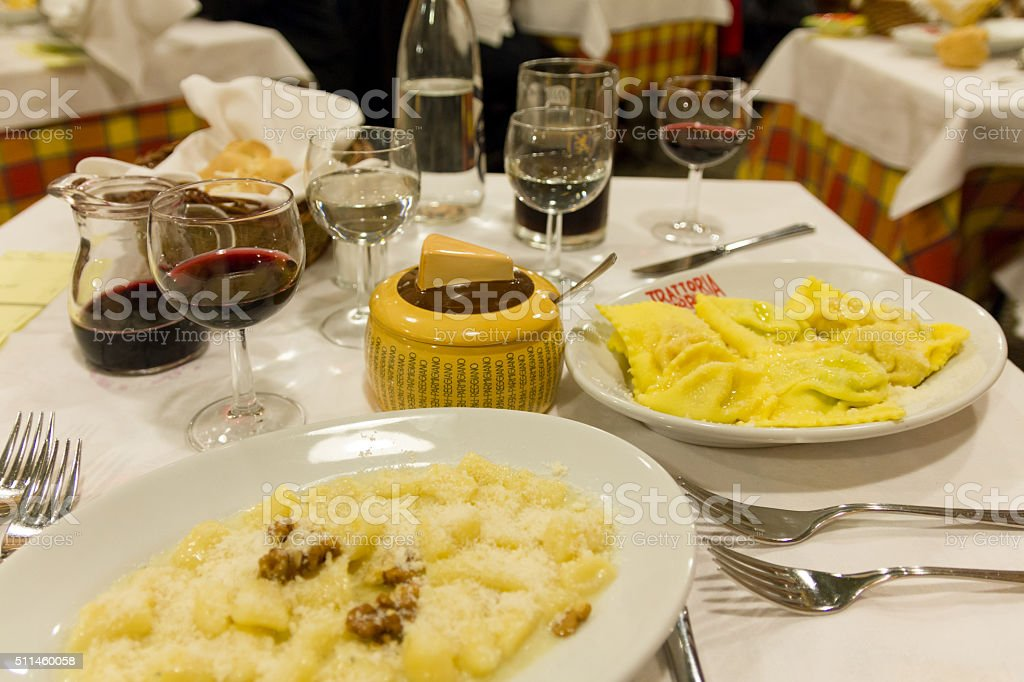 An Italian Dinner stock photo