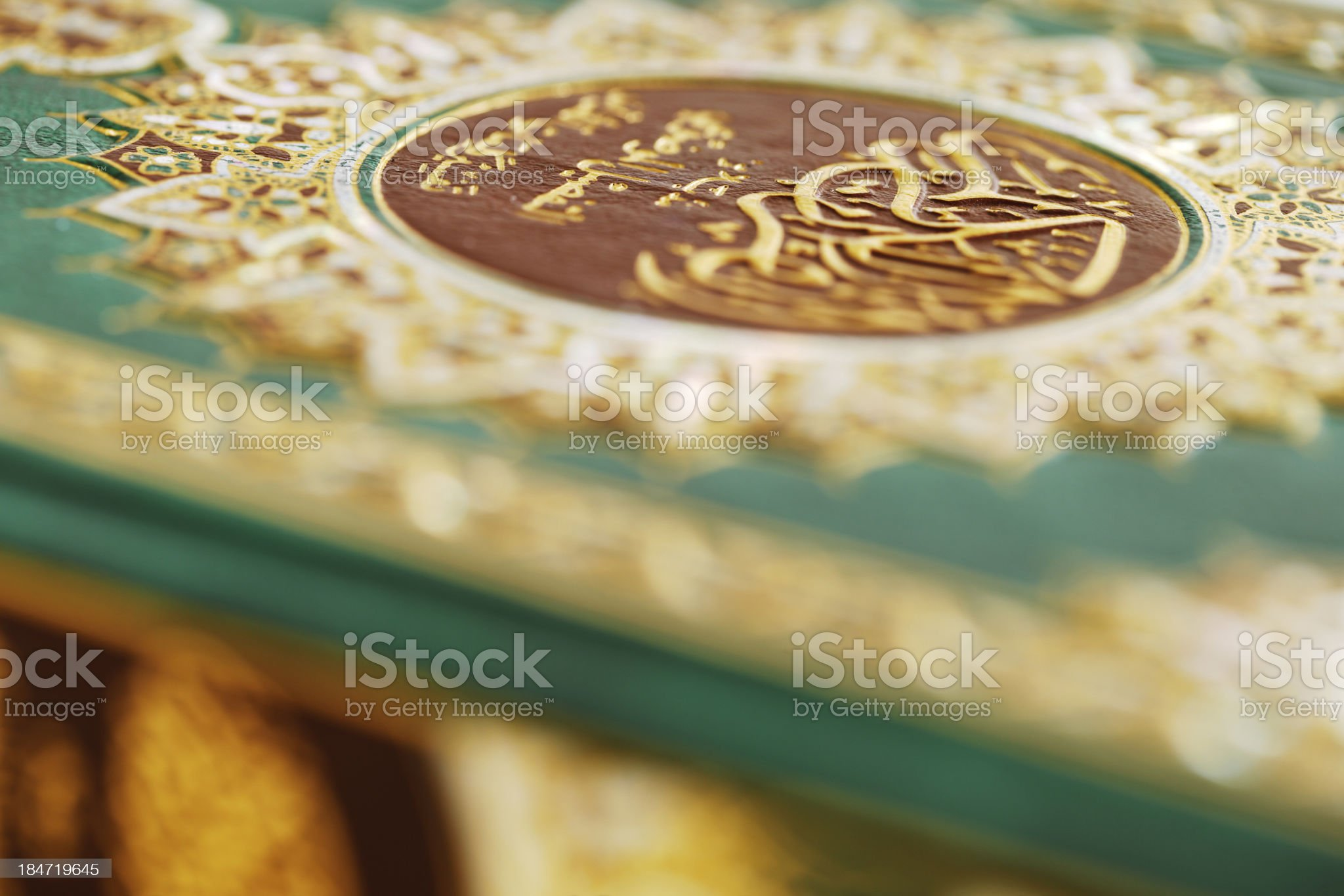 An macro image of the Quran royalty-free stock photo