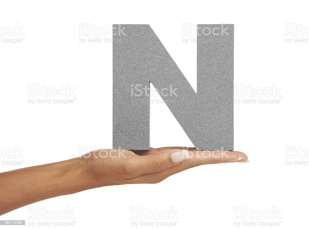 An 'N' just for you royalty-free stock photo