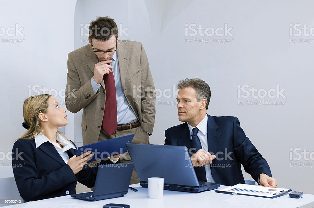 An office business meeting taking place royalty-free stock photo