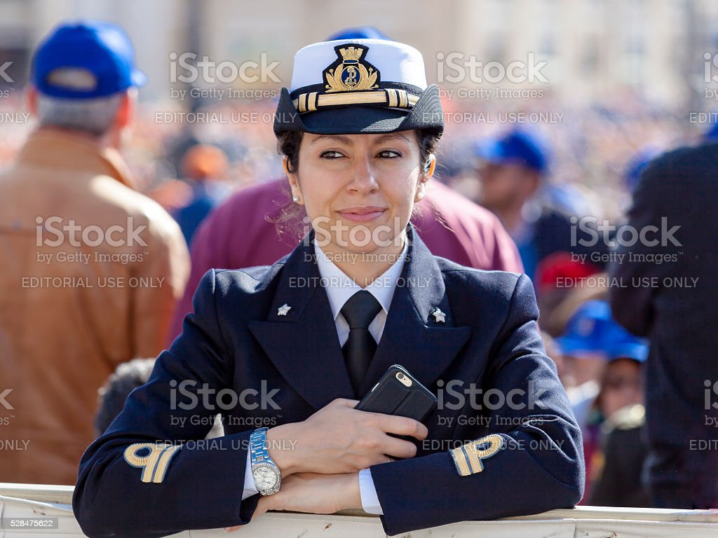 An officer of the Italian Navy stock photo