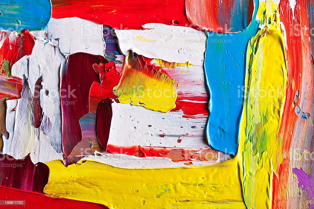 An oil painting on canvas with bold strokes royalty-free stock photo