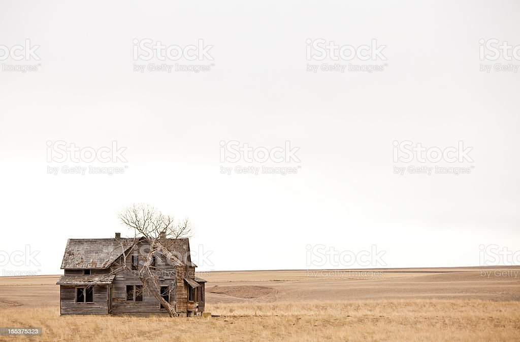 An old abandoned house with no activity royalty-free stock photo