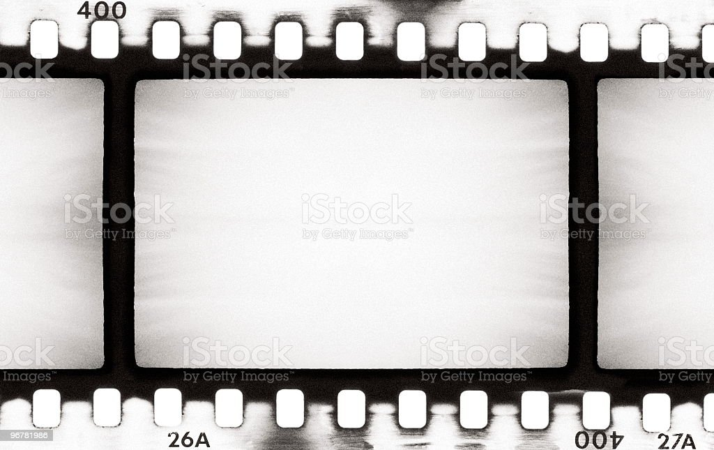 An old black and white film strip stock photo