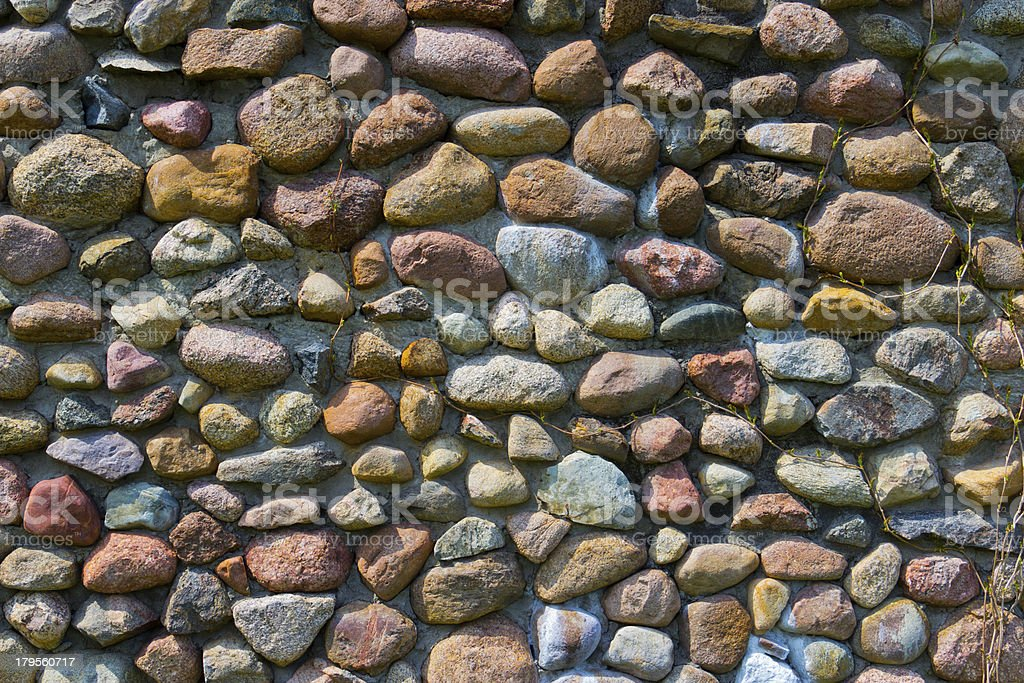 An old boulder stone wall royalty-free stock photo
